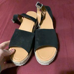 👠2for8👠 black platform sandals